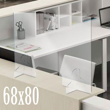 barriera trasparente bancone scrivania