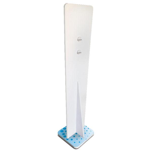 dispenser verticale azzurro coronavirus