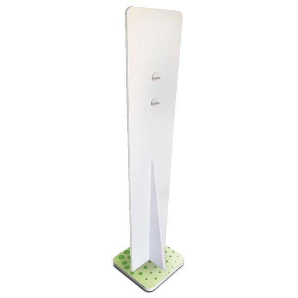 retro pannello igienizzante verde